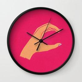 Lowercase C Wall Clock