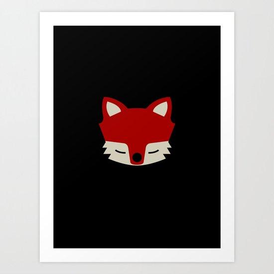 That Sly Fox  Art Print