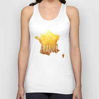 france Tank Tops featuring France by Stephanie Wittenburg