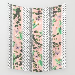 Pattern flowers and cactus Wall Tapestry