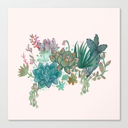 Succulent Party Canvas Print