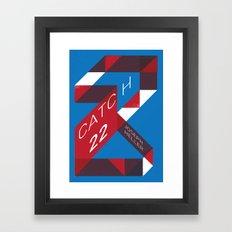 Catch 22 by Joseph Heller Book Cover # 18 Framed Art Print