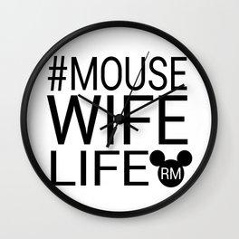 #MOUSEWIFELIFE BLACK Wall Clock
