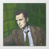 kerouac Canvas Prints featuring Jack Kerouac by Melinda Hagman