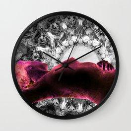Pink Sleeping Venus Wall Clock