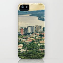 Aerial View of Guayaquil from Window Plane iPhone Case
