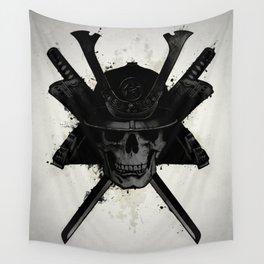 Samurai Skull Wall Tapestry