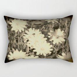 Desert Chicory Coachella Wildlife Preserve in Sepia Rectangular Pillow