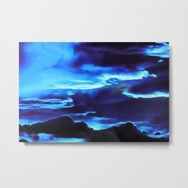 cloudy burning sky reacpth Metal Print