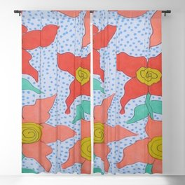 Flowers in the Rain Blackout Curtain
