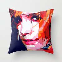 emma watson Throw Pillows featuring Emma Watson Vector by Raditya Giga