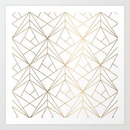 Golden Shapes Art Print
