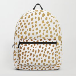 Gold Spots (gold/white) Backpack