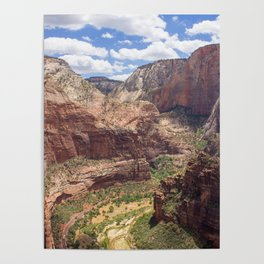 Zion Canyon from Angels Landing Poster
