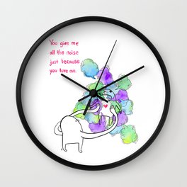 All The Noise Wall Clock