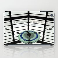 oscar wilde iPad Cases featuring Oscar Wilde #4 Thief of Time by bravo la fourmi