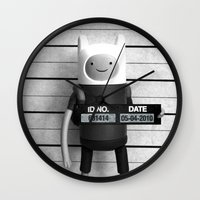 finn Wall Clocks featuring Finn Lineup by Christophe Chiozzi