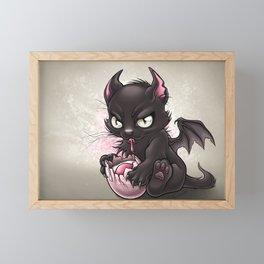 Devil Kitty Framed Mini Art Print
