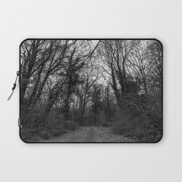 Monochromatic forest path Laptop Sleeve