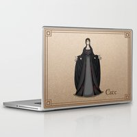 valar morghulis Laptop & iPad Skins featuring Este by wolfanita