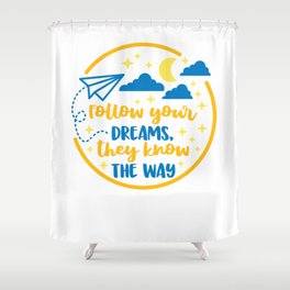 Teenspirational shirt tshirt tees Shower Curtain