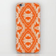 Modern Palm Leaves Pattern - orange and white iPhone & iPod Skin