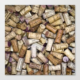 Fine Wine Corks Square Canvas Print