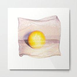 Emulsion Lift 7- Orange You Glad Metal Print