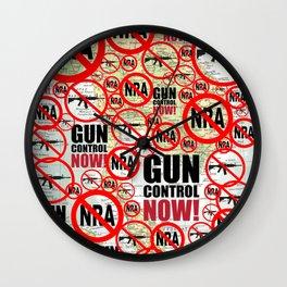 No Guns, Gun Control Now on Map Wall Clock