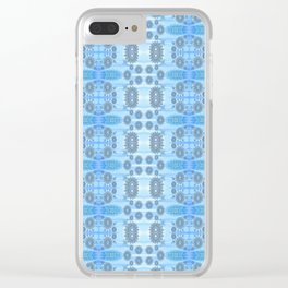 Healing Ultra Blue HD Retro Floral Clear iPhone Case
