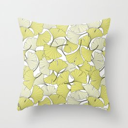 ginkgo leaves (special edition) Throw Pillow