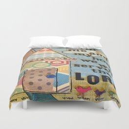My House Will Serve The Lord Duvet Cover