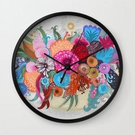 September bouquet Wall Clock