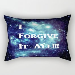 Turquoise Teal Galaxy : I Forgive It All Rectangular Pillow