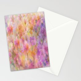 Sophisticated Painterly Floral Abstract Stationery Cards