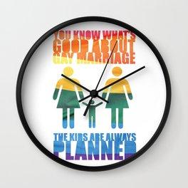 LGBT Parenting Wall Clock
