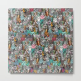 Gemstone Cats Metal Print