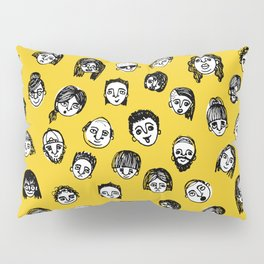 So Many People (Yellow) Pattern Print Pillow Sham