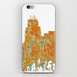 Durham,NC Skyline - Rust iPhone Skin