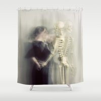 dance Shower Curtains featuring The Dance by elle moss