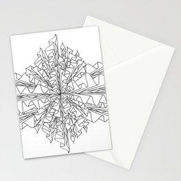 starburst line art - white Stationery Cards