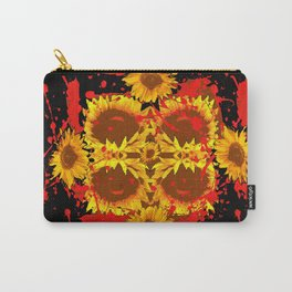 """SUNFLOWERS HAVING BLOODY GOOD TIME"" Carry-All Pouch"