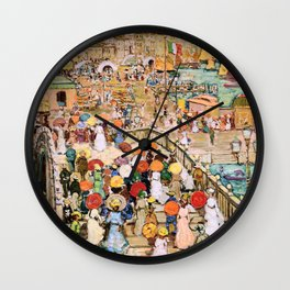 Maurice Brazil Prendergast - Ponte Della Paglia - Digital Remastered Edition Wall Clock