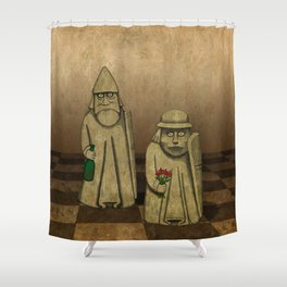 Playing for Peace Shower Curtain