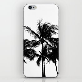 Tropical Palm Trees Black and White iPhone Skin