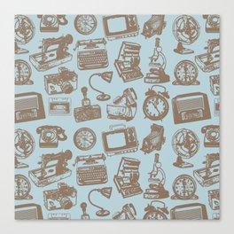 blue vintage pattern Canvas Print