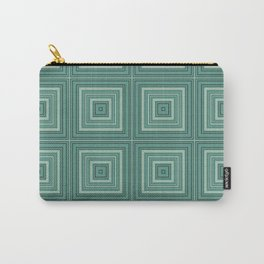 Green plaid  4 Carry-All Pouch