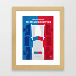 No982 My The French Connection minimal movie poster Framed Art Print