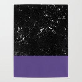 Ultra Violet Meets Black Marble #1 #decor #art #society6 Poster