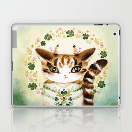 Poe: Heart of my Heart, St. Paddy's Day Cat, lucky charm Laptop & iPad Skin